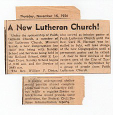 A new Lutheran curch