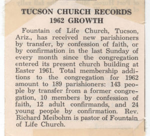 1962 church growth