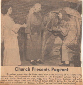 Church presents pagent photo