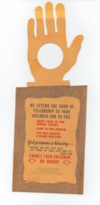 Door hanger 1958 Rally day