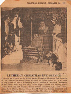 Lutheran Christmas Eve Photo