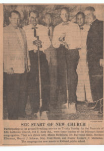 See start of new church photo