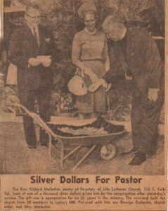 Silver dollars photo